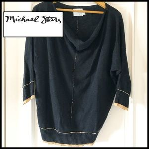 Michael Stars Black/Tan Knit Sweater / ⭐️ neckline